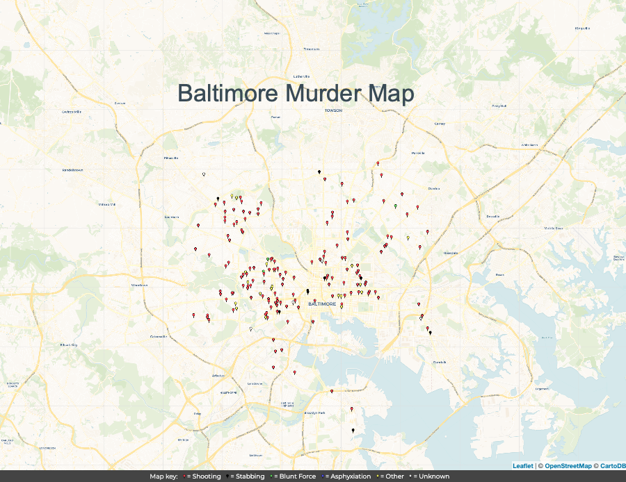 There's Blood On The Streets Of Baltimore, Homicides Flare