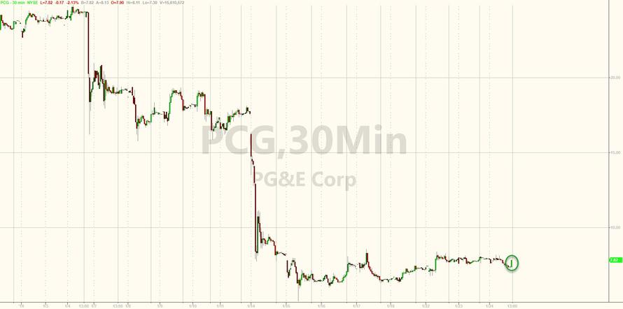 PG&E Shares Surges, Are Halted After Company Cleared In Deadliest