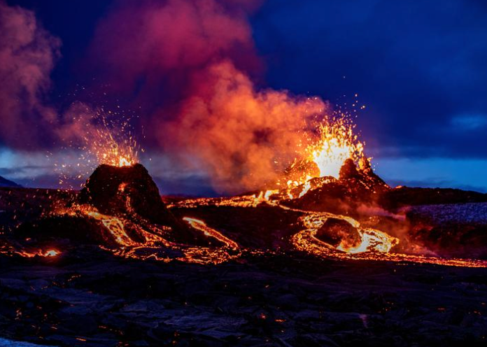 Hikers Evacuated As Iceland Volcano Unleashes New Lava Stream