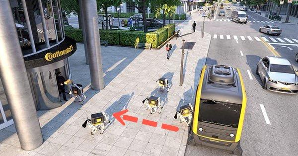 Watch Robot Dog Deliver A Package From Autonomous Shuttle [VIDEO]
