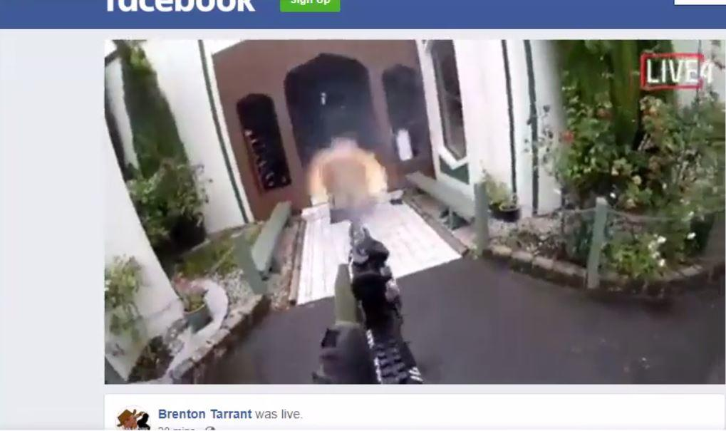 mosque shooting new zealand live stream