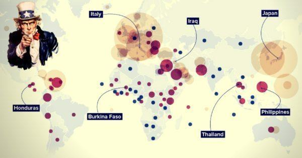 Smithsonian Map Shows US Military Operating In Over 40% Of World\'s ...