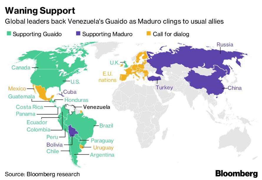 Trump Support By State Map.Venezuela S Self Declared President Reaches Out To China As Trump